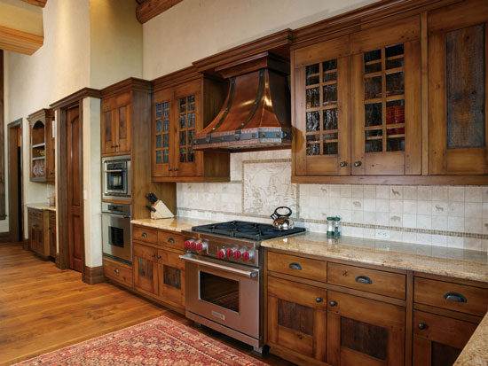 Kitchen Cabinets In Alder With Reclaimed Barnwood Panels Pantry Door Plate Storage